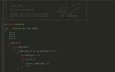 Simple Programming : Repeat_alpha.c