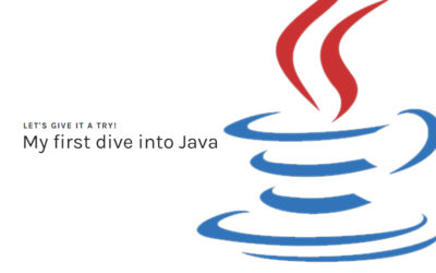 My First Dive Into Java